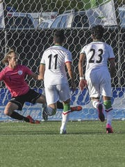 Goalkeeper Douglas Herrick of the Guam Matao Men's