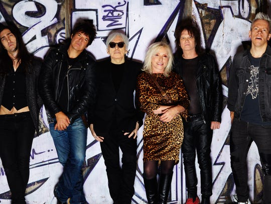 Blondie, from left: Matt Katz-Bohen, Clem Burke, Chris Stein, Debbie Harry, Leigh Fox and Tommy Kessler. The band plays Kettlehouse Amphitheater Sept. 4.