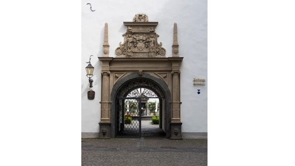 Entrance to Koblenz city hall.