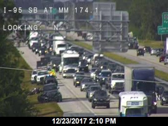 Lanes re-open on Interstate 95