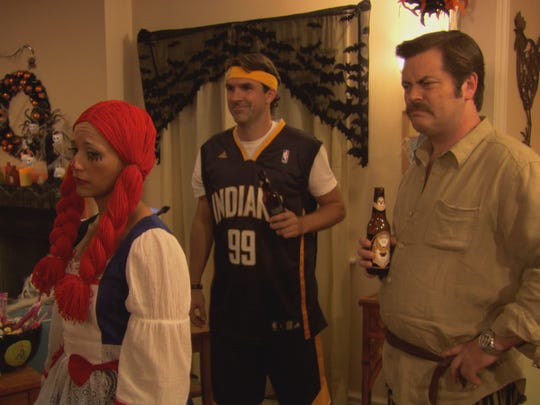 Mark Brendanawicz goes with the classic Indiana Pacers jersey for Halloween.