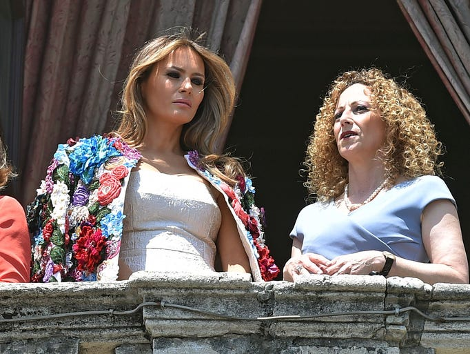 Back in Italy on May 26, 2017, first lady Melania Trump