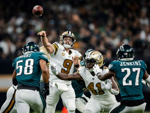 Forget Alabama - can anyone play with the Saints? New Orleans soars by Philadelphia, 48-7