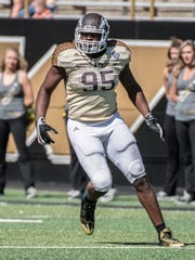 WMU's Odell Miller (95) during the Broncos' 2015 Spring