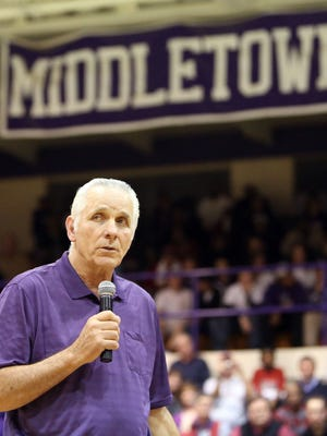 Middletown High's basketball court was named after Jerry Lucas in 2013.