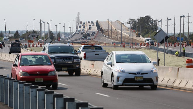 Both east and west bound traffic now travel along the new span while the old span is repaired. The Dorland J. Henderson Memorial Bridge and three other bridges along Route 72 that connect the mainland of Stafford Township to Long Beach Island are undergoing a major rehabilitation. Stafford Township, NJ Tuesday, May 24, 2016@dhoodhood