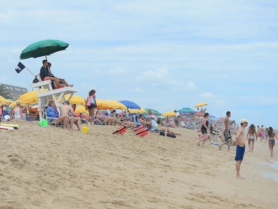 Bethany Beach lifeguards on duty making sure that all