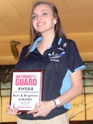 Boone County's Kayla Hightchew was the 2014 Region 6 singles champion.