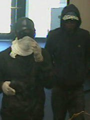 Yorktown Police are asking for the public's help identifying these two men in connection with a bank robbery on Thursday.