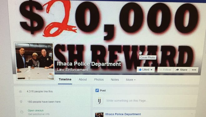The Ithaca Police Department updated its cover photo on Facebook, seeking information and and an arrest and conviction in an unsolved 2010 arson.