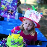 Carley Huebner celebrates her 7th birthday at Grove Station Farms.