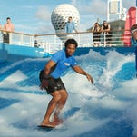 Navigator of the Seas sails to its homeport of Galveston, Texas after a month long revitalization that featured the addition of a Flowrider, virtual balcony staterooms, new dining options and so much more.
