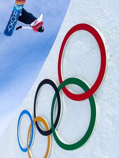 Aimee Fuller (GBR) competes in women's snowboarding