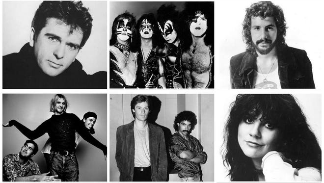 Peter Gabriel, Kiss, Cat Stevens, Nirvana, Hall & Oates and Linda Ronstadt make of the Rock Hall Class of 2014.