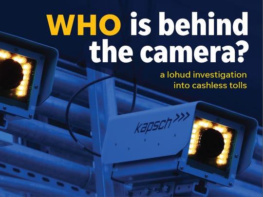 Cashless toll cameras