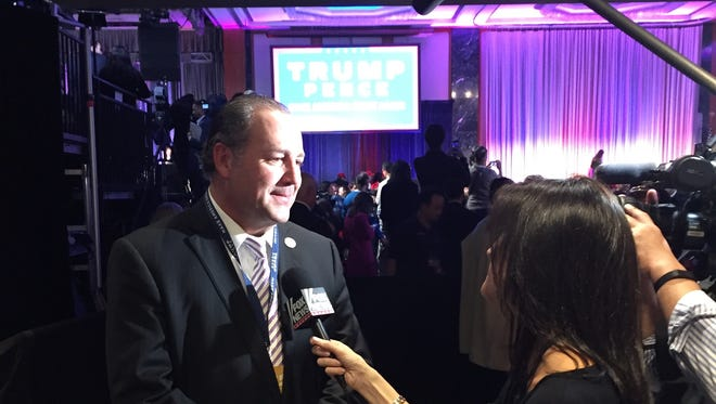 Tim Breaux, Co-chair of the Donald Trump campaign - Louisiana gives interviews after Trump's victory.