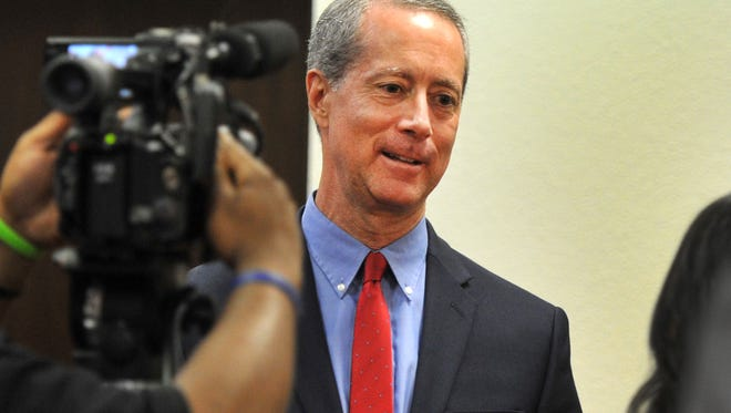 In this file photo, U.S. Rep. Mac Thornberry answered media question shortly before speaking to the Rotary Club of Wichita Falls. Thornberry said a gun bill he backs makes a concealed-carry permit legal across state lines in much the same way a driver's license is.
