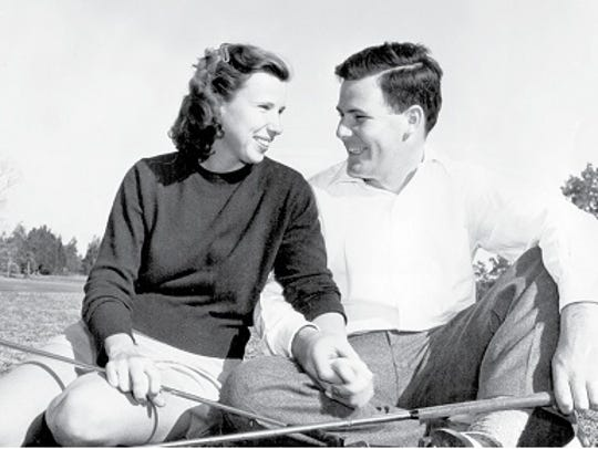 Pete and Alice Dye at Rollins College in Florida circa