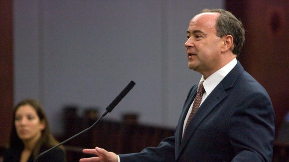 The Goldwater Institute's Clint Bolick arguing at the Arizona Supreme Court, of which he is now a member