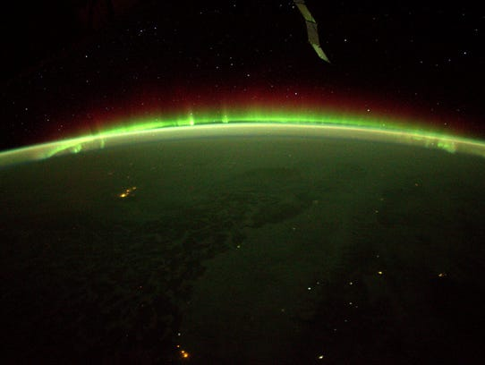 Aurora, taken from the International Space Station