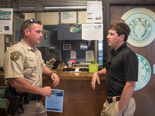 Game Warden Jimmy Lindsey (left) and A&M-Corpus Christi