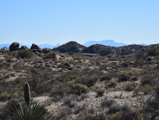 Weavers Needle, the Flatiron and other features of