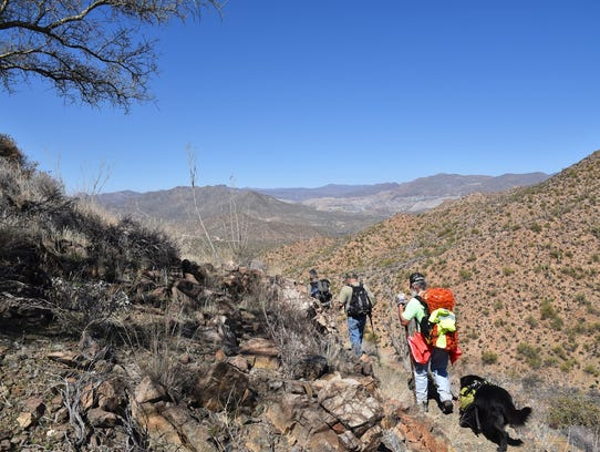 On the switchbacks of Arizona Trail Passage 15.