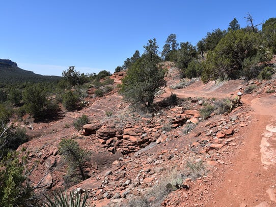 A slickrock passage on Chuckwagon Trail to the Van