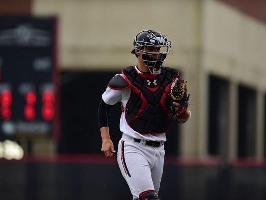 University of Cincinnati senior catcher Joey Thomas