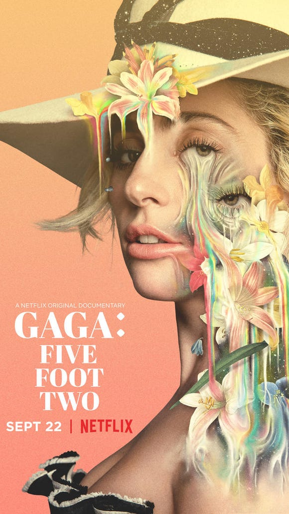 Cover art for Netflix's 'Gaga: Five Foot Two' original