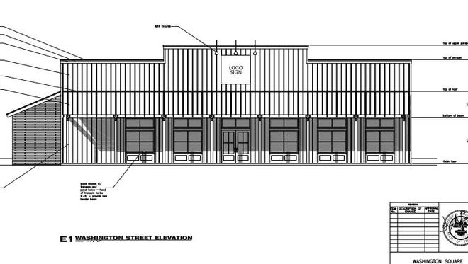 This is a rendering of the proposed new look of the remodeled building at 170 Washington Street.