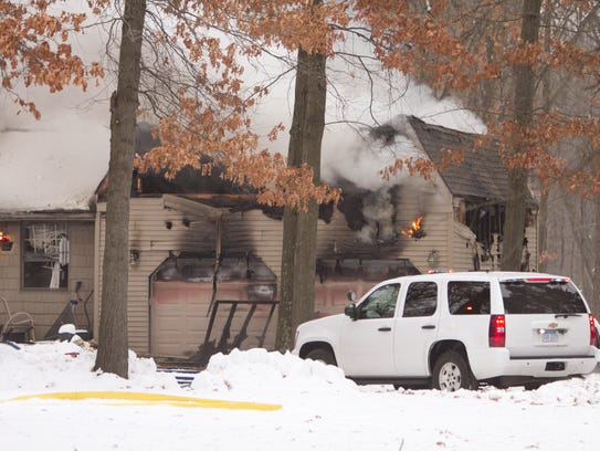 Fire broke out in the garage of a home in the 200 block