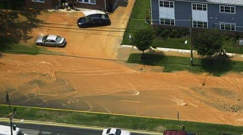 PHOTOS: Water main break in Wheaton