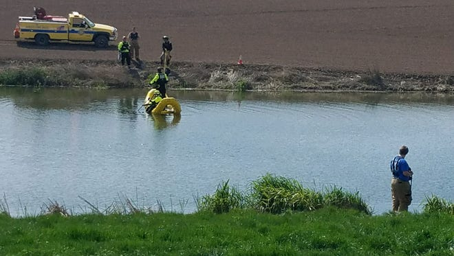 A 27-year-old man has drowned in the Ash Swale, a portion of the Marvin Fast Reservoir.
