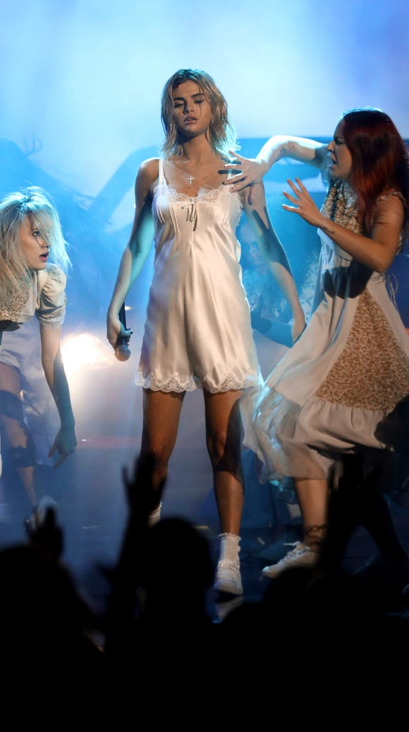 Gomez and her 'Wolves' dancers.