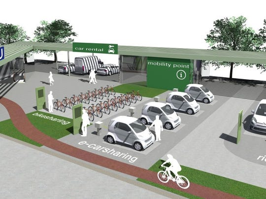 A mobility hub could give riders access to shareable