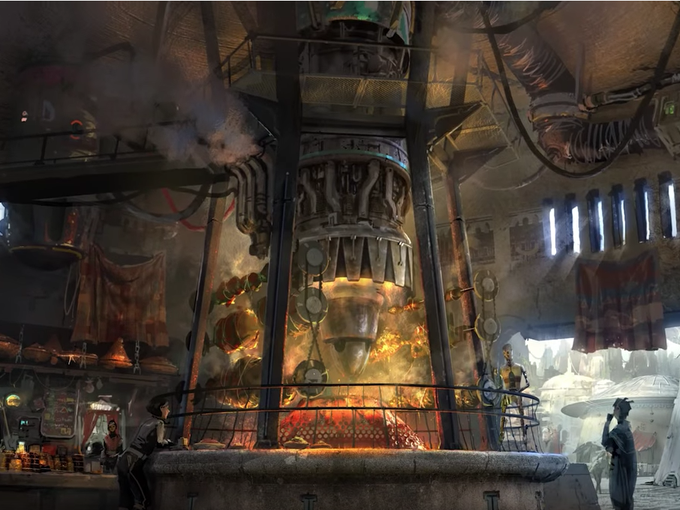Guests will enter a long-forgotten trading post filled