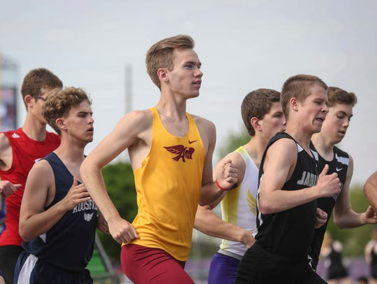Ankeny junior Tim Sindt is a contender in the distance