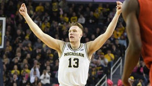 Ignas Brazdeikis and Michigan dropped one spot to No. 7 in this week's Associated Press Top 25.