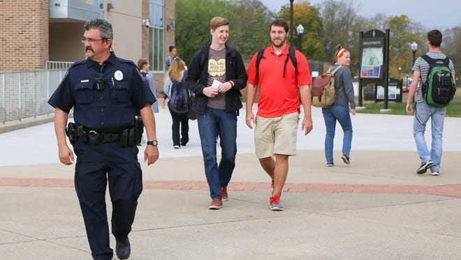 Vol State officers patrol the campus throughout the day and night.
