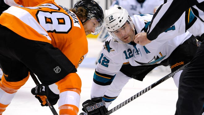 Like the Flyers, the Sharks are on the outside of the playoff picture.