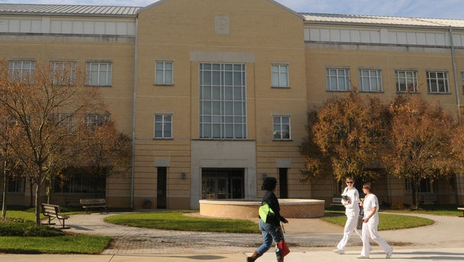 Students change classes at Wor-Wic Community College in Salisbury.