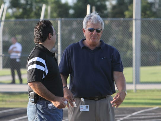 Joe Kemper, on the sidelines of a local school in this
