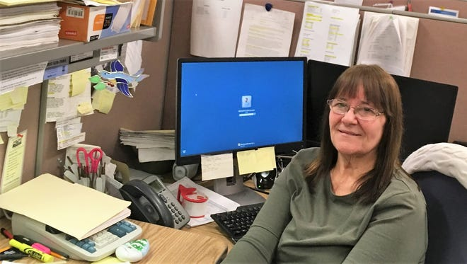 Ferry Marek retired Feb. 27 after just over 42 years working for Oconto, all but 11 months in the Clerk of Courts office.