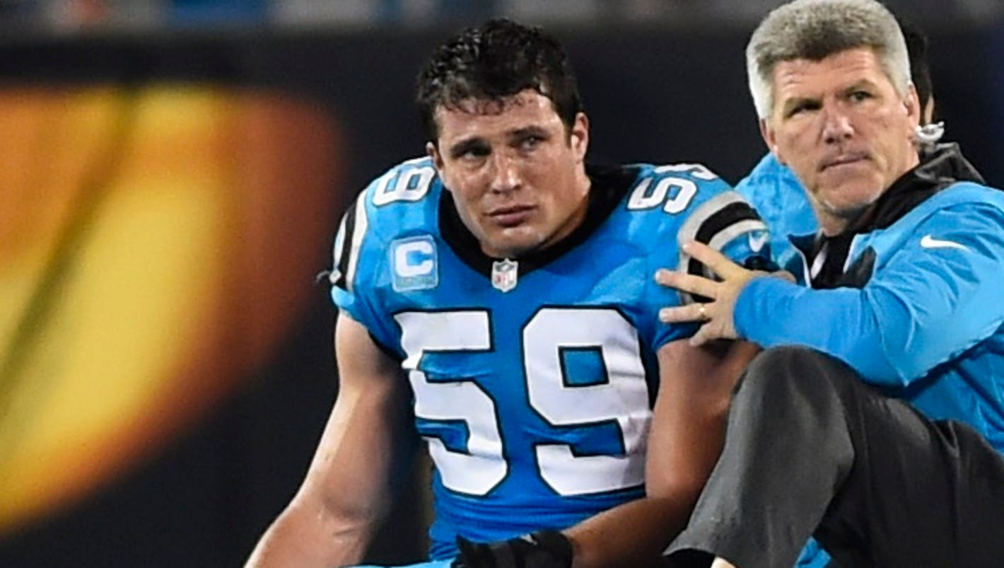 Panthers LB Luke Kuechly carted off field checked for concussion