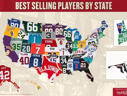 Pat Tillman's jersey is still big in Arizona.