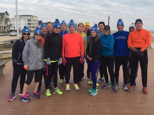 A Sunday group run with members of Jersey Shore Running Club.