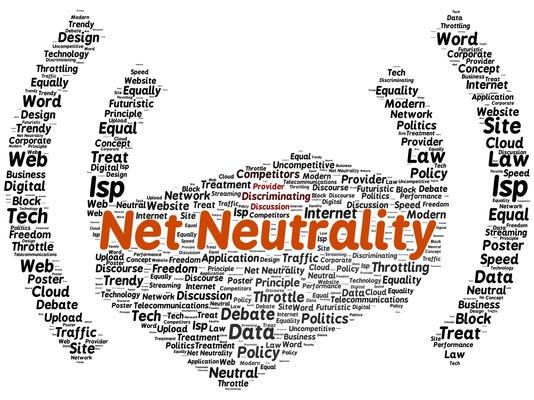 Net neutrality word cloud shape