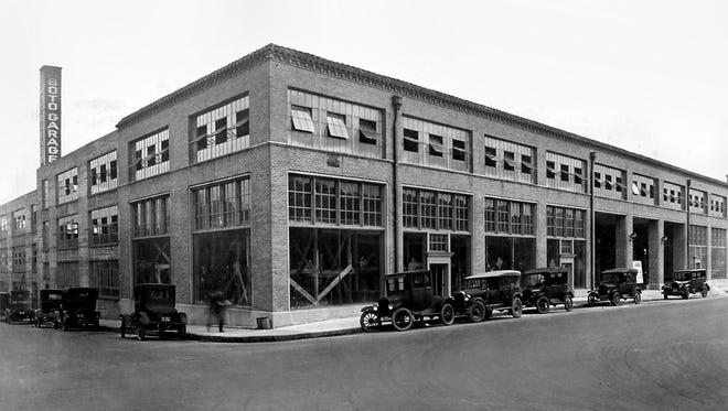 March 1929 - The Desoto Garage was a new addition to the Memphis scene at Third and Gayoso in March 1929.