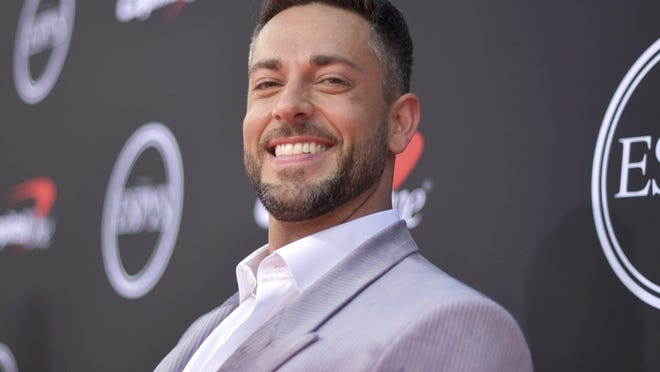 Zachary Levi arrives at the ESPY Awards July 10, 2019 at the Microsoft Theater in Los Angeles.